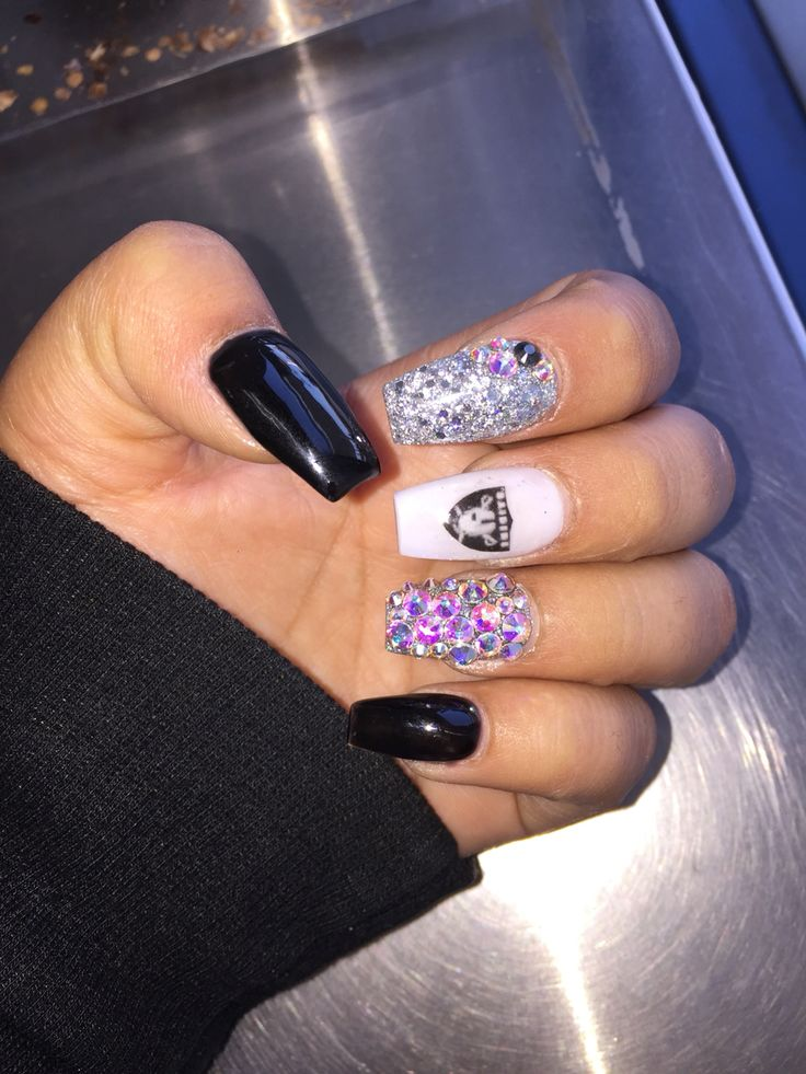 8 best Raiders designs images on Pinterest   Raiders nails, Oakland ...
