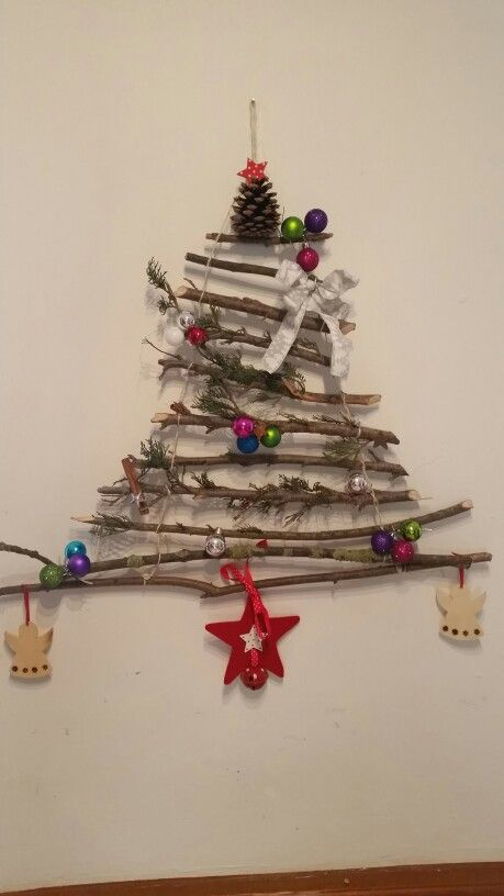 Weihnachtsbaum-Alternative für die Wand