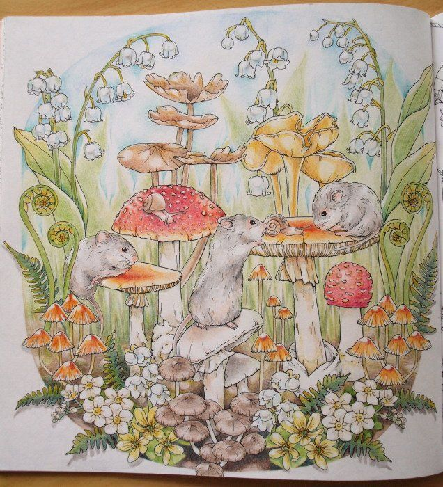 Inspiration for mushrooms and shading.