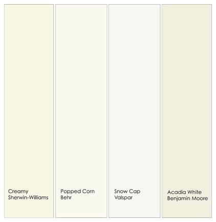 Warm White Trim Colors See The Note About Your Monitor S Color Calibration Above From Left To Right 1 Creamy Sw7012 Sherwin Wil Paint 2 In