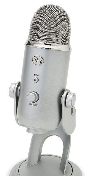 Blue Yeti USB Microphone - Silver BEST MICROPHONES FOR YOUTUBE