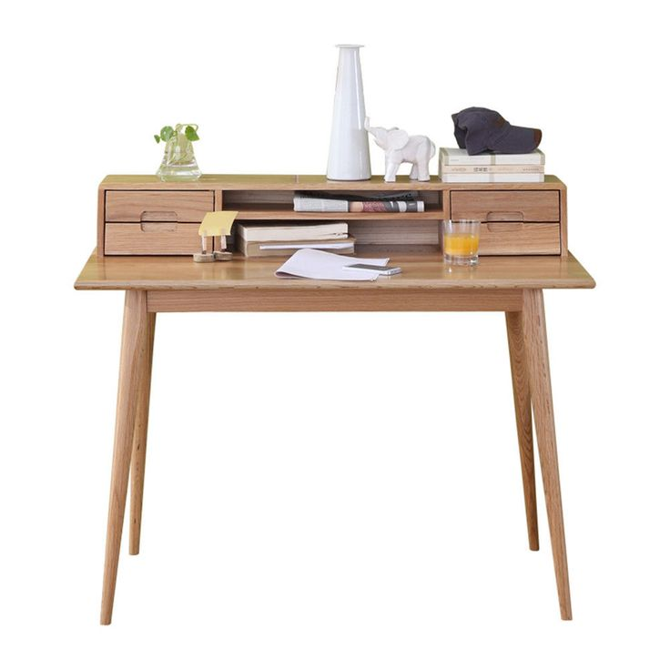 100% Solid Oak Writing Desk. Backs and drawer base made from solid oak panels. We pride ourselves on making quality solid oak furniture at the cheapest prices in the UK. Oak is a natural material that will change in character and appearance over time. | eBay!