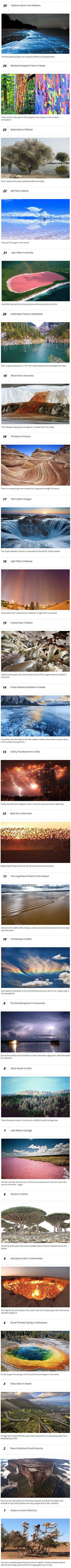 Here are some natural phenomena you probably never knew about.