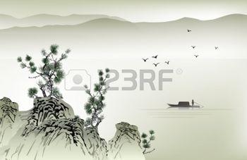 pittura giapponese: Pittura cinese