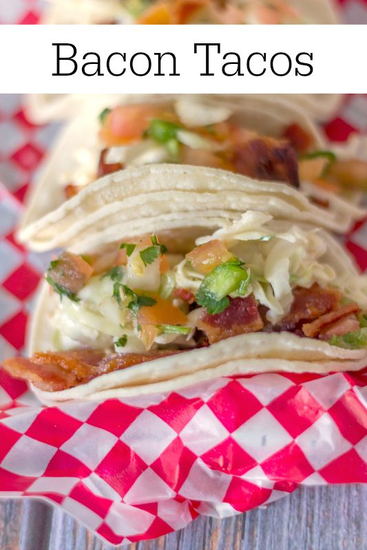 Move over BLT....these bacon tacos are even better than you are!