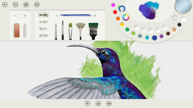 easy to use + includes oil, watercolors, pencils, and all the tools you need to paint | fresh paint app