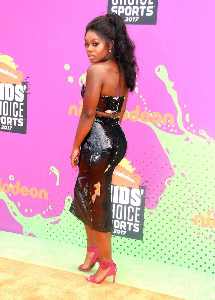 See Gabby Douglas Shining in a Sequin Two-Piece on the Red Carpet | Lifestyle | BET |