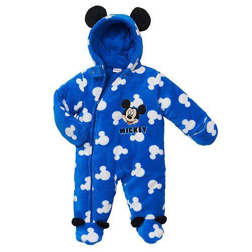 """Disney Boys' Blue Mickey Mouse Hooded Full Zip Pram - Babies R Us - Babies """"R"""" Us"""
