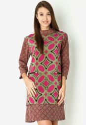Danar Hadi  Mini Dress Batik Kawung