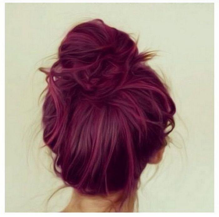 Dark Plum Hair Color red plum hair color – Hair Color Trend 2015