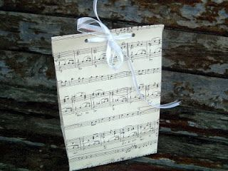 Remember when we made maptastic gift bags? Check out the tutorial for how to make these. Well for Christmas… Sheet music gift bags! Make them the same way but out of vintage sheet music… Gorgeous way to give gifts this holiday season! ~Thanks for stopping by!~ ~Angie~
