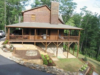 Hiawassee cabin rental - Side View of Smoky Ridges