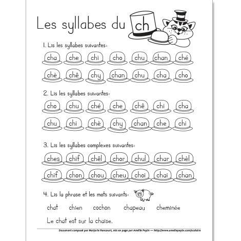 Les syllabes du ''ch''