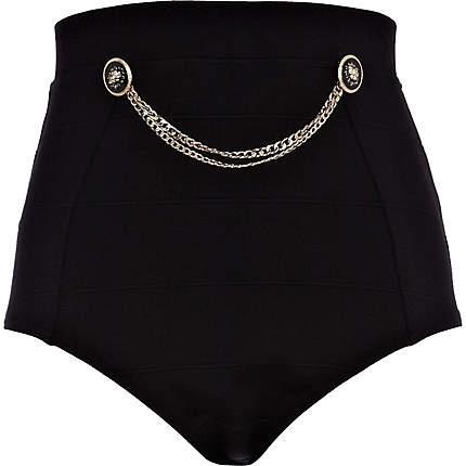 black button and chain knicker shorts - smart shorts - shorts - women - River Island