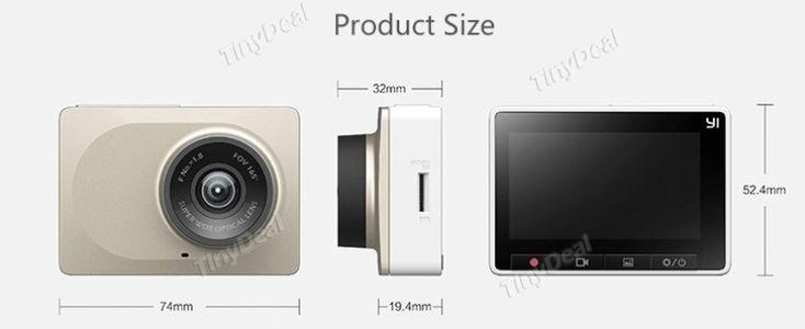 Xiaomi Yi Car Wi-Fi DVR 2.7 Inch 165 Degree 1080P Support ADAS RGP-496087 - Wholesale Supplier: TinyDeal