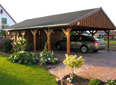 Double carport with storage