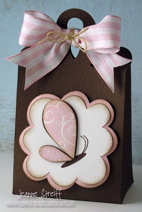 Cute Pink Butterfly Bag created by Jeanne Streiff using Sizzix eclips  Framelits