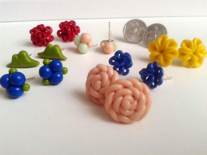 Fimo náušničky z mé osobní sbírky :) /My diy fimo earrings #diy #fimo #earrings #colored