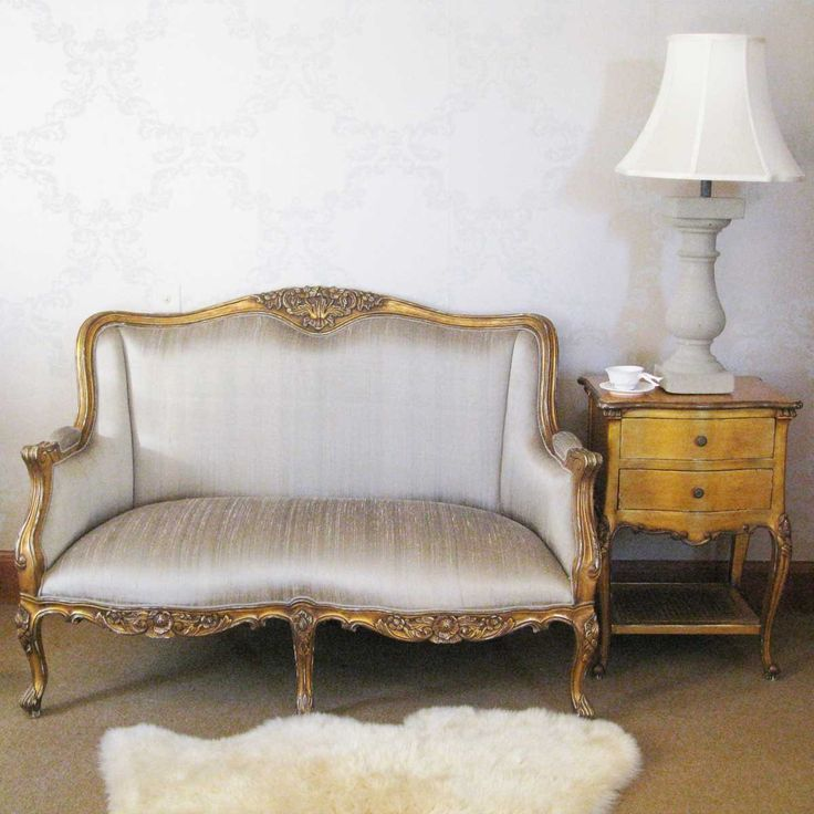 Versailles Gold Bedroom Sofa | French Style Sofa - French Bedroom Luxury Silk…