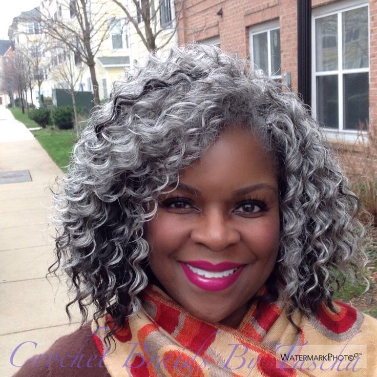 Crochet Hair Grey : Crochet Braids Pinterest Twists, The Gray and Grey