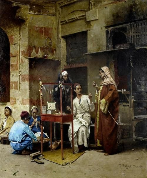 The Tobacco Seller - Raphael Ambros 1891
