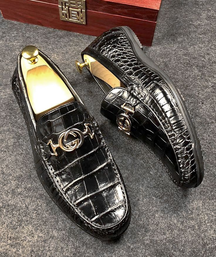 Men's Alligator Penny Loafers Moccasin Driving Shoes Slip ...