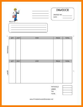 9+ bid invoice template   Short paid invoice