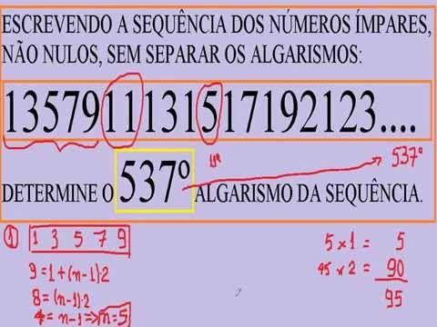Sequência de números pares e ímpares Progressão aritmética PA Princípio ... https://youtu.be/vPVs5EGZyJA