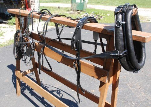 """(Product review for Amish Beta Miniature Horse Harness with Collar & Hames).   - Brand new Amish made beta mini horse buggy harness with 14"""" hames. This harness is made in Iowa by our Amish harness maker – all US materials and workmanship – this is a commercial quality harness – we are even including a 14"""" Amish made collar. The hames are 14""""..."""