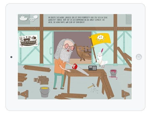"""Die Kinderbuch-App """"Arche Noah"""" interpretiert die bekannte biblische Geschichte ganz neu."""