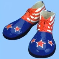 RWB Stars and Stripes Vinyl Clown Shoes:  $27.00
