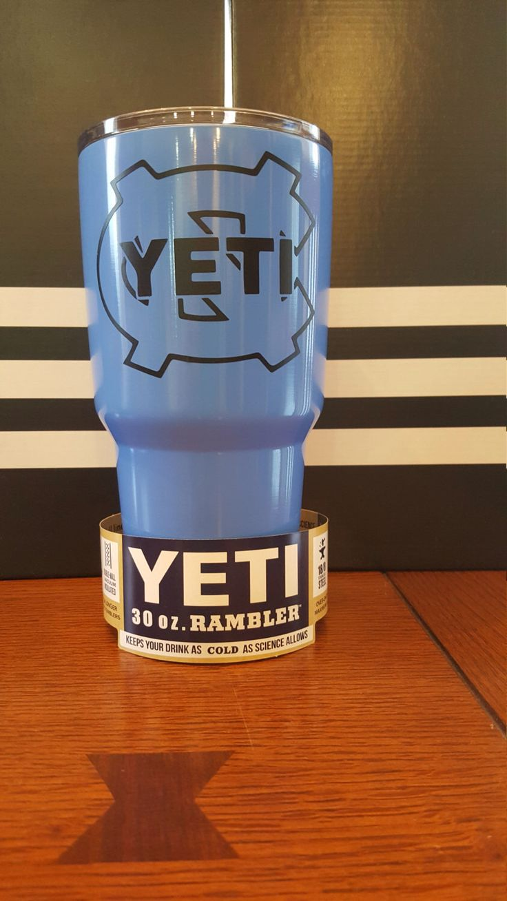 UNC Tarheels Double Logo YETI Rambler 30oz. Tar Heels Blue or Pink by YetiByDesign on Etsy https://www.etsy.com/listing/466083096/unc-tarheels-double-logo-yeti-rambler