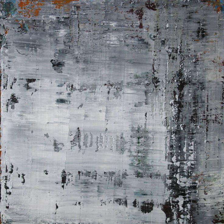 abstract N° 1041 [Grey matter I], Koen Lybaert, oil on canvas on wood panel. #art