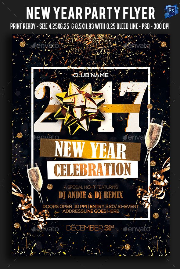 573 Best New Year Party Flyer Templates Images On Pinterest