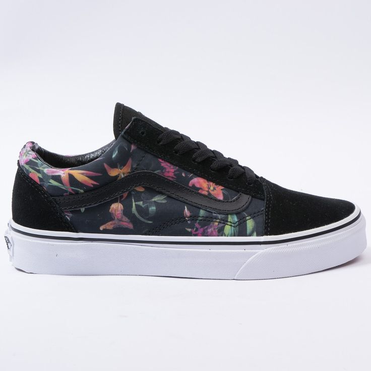 sale retailer 2bfc6 b7314 Vans Old Skool (Black Bloom) Black True White VN-0 1R1GEQ