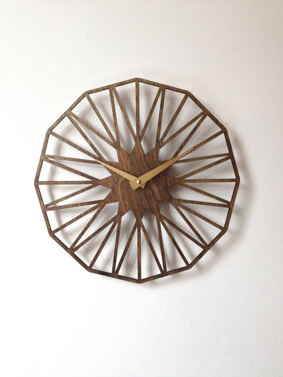 Star Clock. Modern Geometric Minimal Laser Cut by SarahMimoClocks, $65.00 BOUGHT!! :)