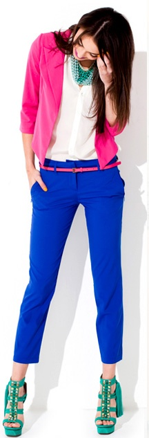 Color block outfit from Lulus.com. Fresh, vibrant and oh so fabulous. Ready for Spring!
