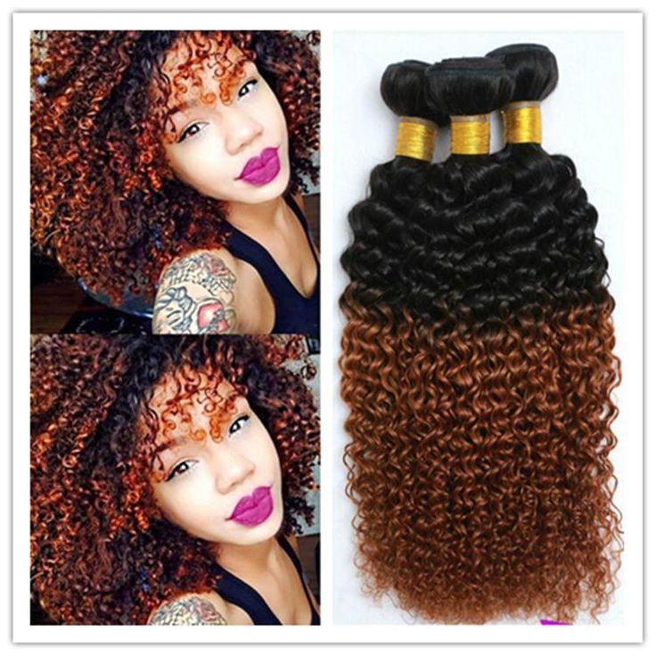 1b 30 Weaving Africa Curl Brazilian Afro Kinky Curly 3pcs