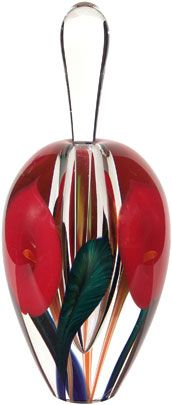 Red Calla Lily Art-Glass Perfume Bottle by Scott Bayless ♥≻★≺♥
