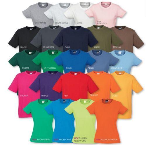 Biz-Collection-Ladies-Ice-Tee-Shirt-T10022-Premium-Cotton-Plain-T-Shirt-Womens