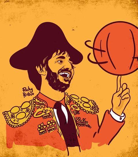 Ricky Rubio Illustration by Patrick Puckett