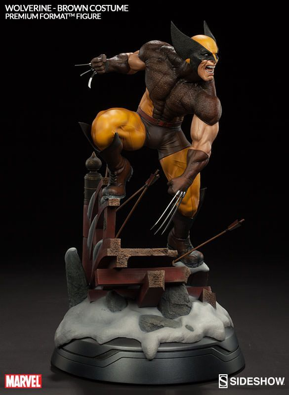 Marvel Wolverine - Brown Costume Premium Format(TM) Figure b | Sideshow Collectibles