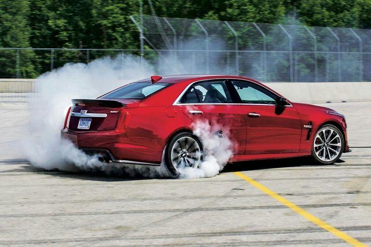 Cadillac CTS-V burnout