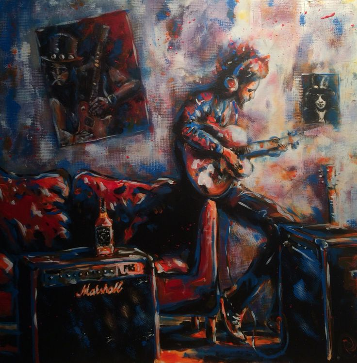 """Rock & Roll Dreams"" Acrylic on Canvas 80x80 www.ricasso.se"