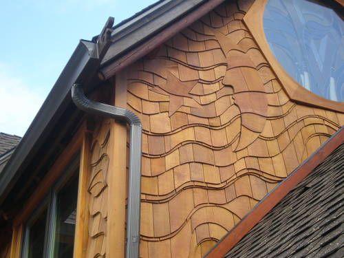 Custom Gutters Metal Roof Siding Work Cedar Shingle Whimsical Art