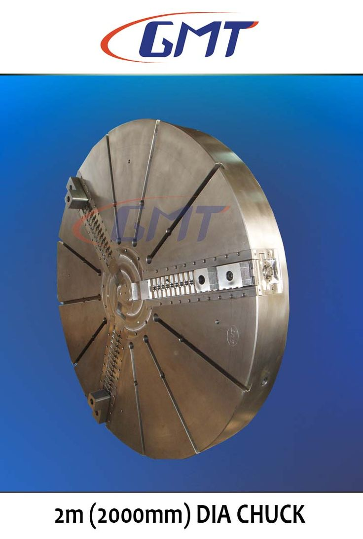 This is one of the biggest chuck manufactured by GMT, it has a diameter of 2000 mm.