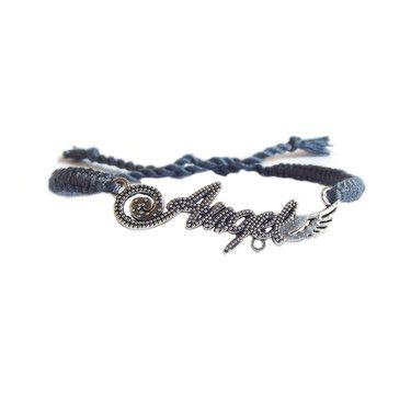 #bransoletka z muliny #makrama #angel na DaWanda.com