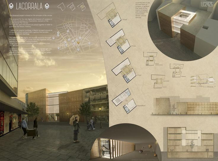 "    Second Prize     ""La Corrala""  by Spanish team Arch. Vicente Hernandez Vaquero and Arch. Silvia Rodriguez Iglesias, Coruña - Spain"
