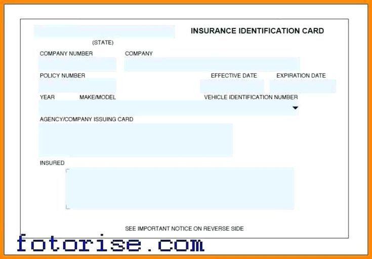 Car Insurance Card Template Progressive Id Cards Car Progressive