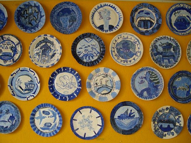 Chinese Blue Willow Paper Plates